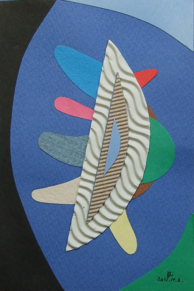papier collé  023/1001  (150mmx100mm )   2012.10.06.  norio