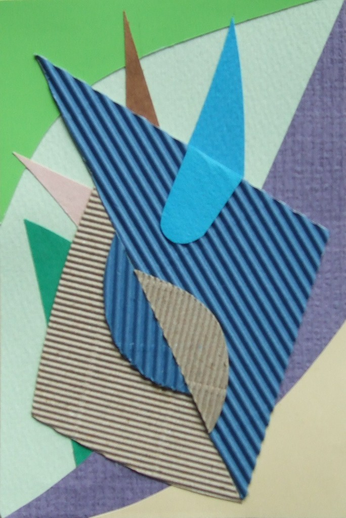 papier collé  141/1001  (150mmx100mm )   2012.11.04.  norio