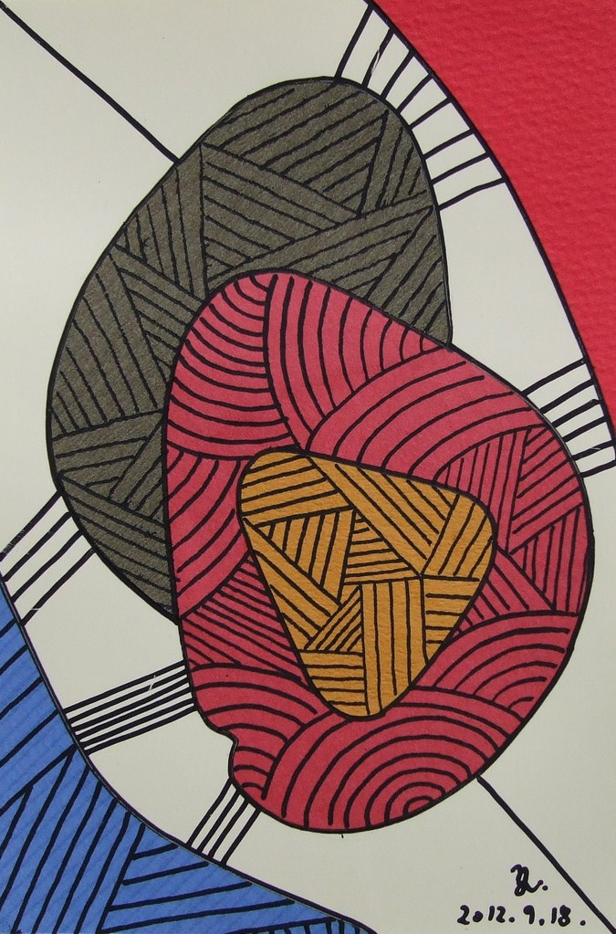 papier collé  012/1001  (150mmx100mm )   2012.09.18.  norio