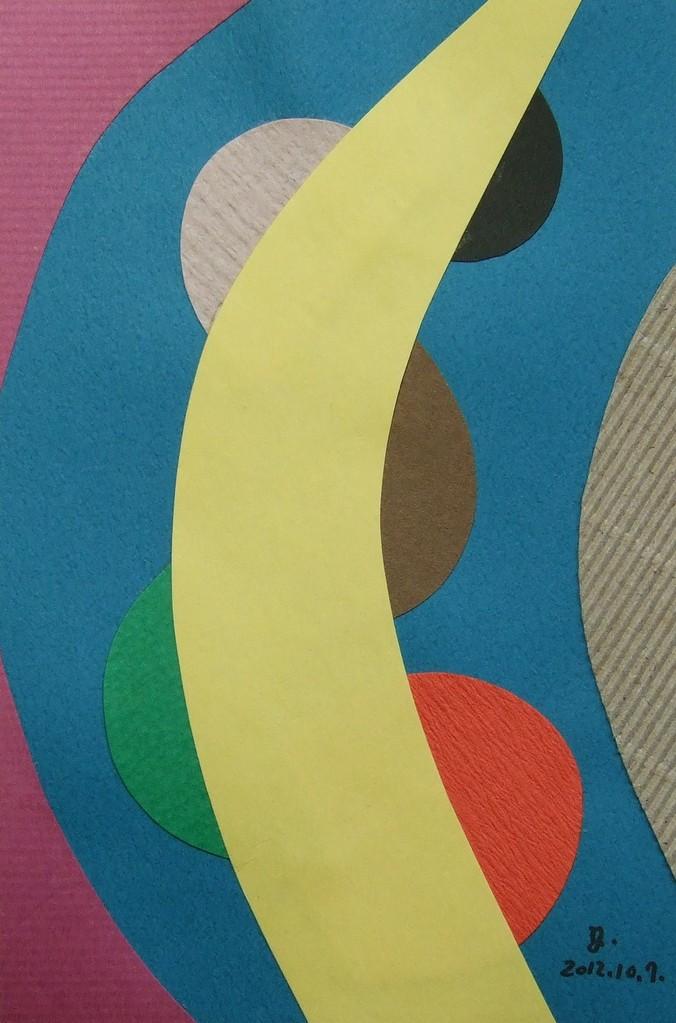 papier collé  033/1001  (150mmx100mm )   2012.10.07.  norio