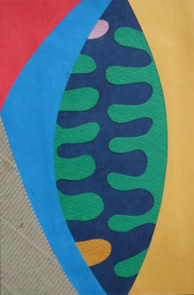 papier collé  186/1001  (150mmx100mm )   2012.11.24.  norio