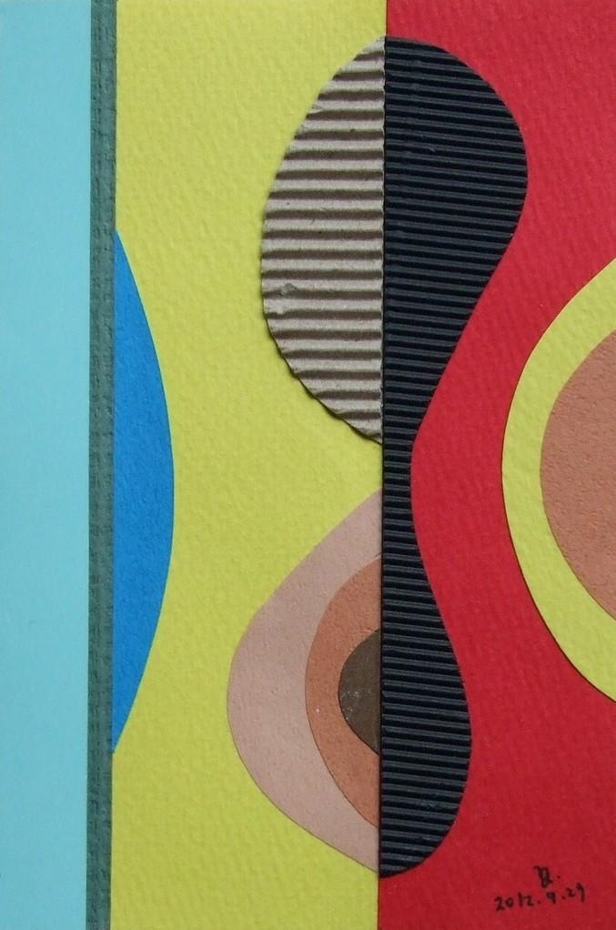 papier collé  018/1001  (150mmx100mm )   2012.09.29.  norio