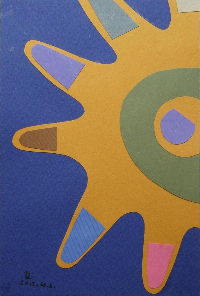 papier collé  029/1001  (150mmx100mm )   2012.10.06.  norio