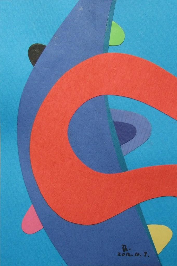 papier collé  031/1001  (150mmx100mm )   2012.10.07.  norio