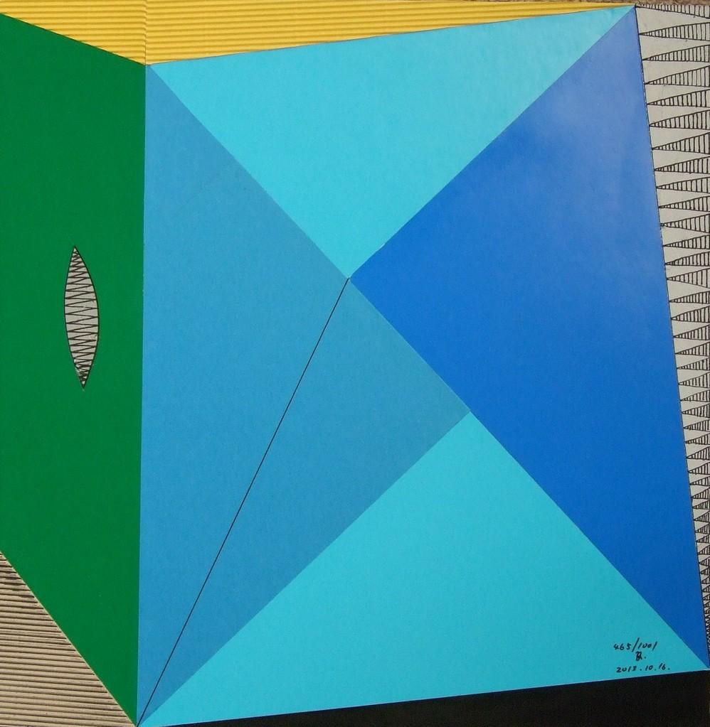 papier collé  465/1001  (402.5mmx402.5mm )   2013.10.16.  norio