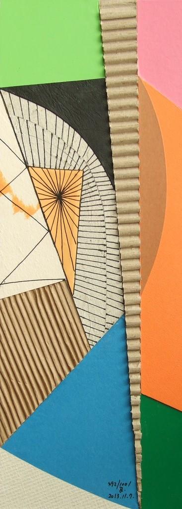 papier collé  492/1001  (402.5mmx148.5mm )   2013.11.07.  norio