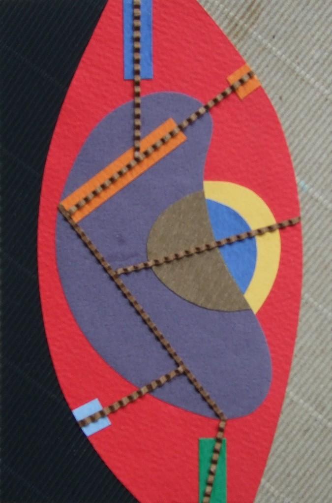 papier collé  178/1001  (150mmx100mm )   2012.11.20.  norio
