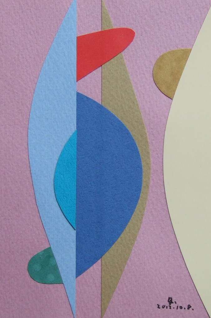 papier collé  037/1001  (150mmx100mm )   2012.10.08.  norio
