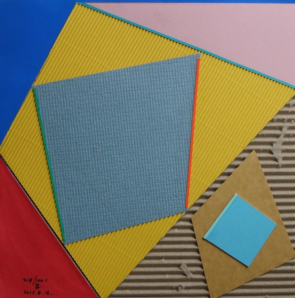papier collé  418/1001  (297mmx297mm )   2013.08.16.  norio