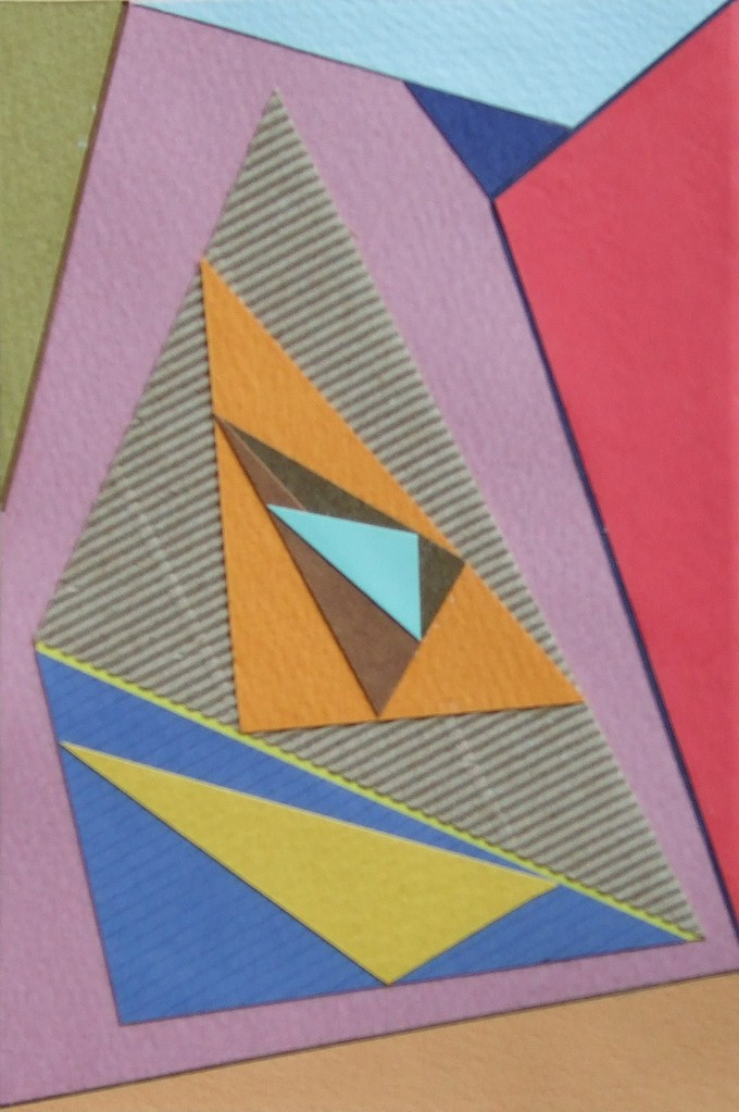 papier collé  109/1001  (150mmx100mm )   2012.10.26.  norio