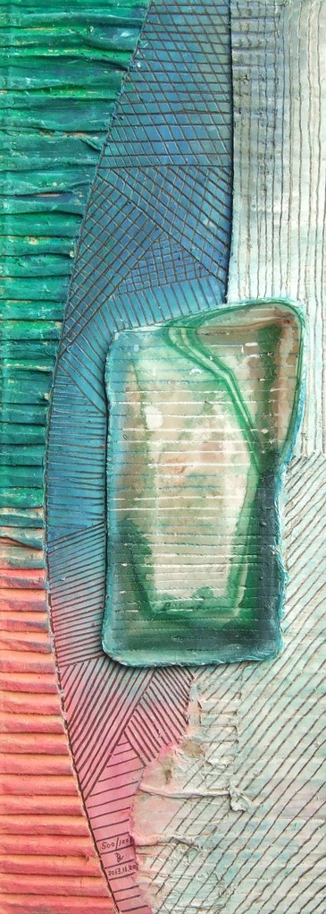 papier collé  500/1001  (402.5mmx148.5mm )   2013.11.20.  norio