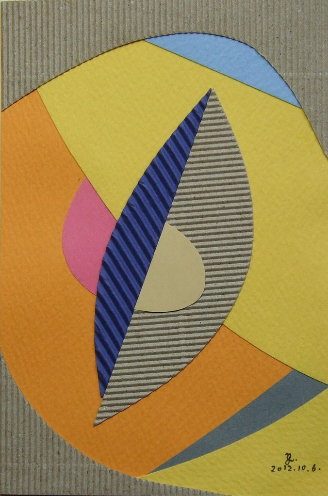 papier collé  024/1001  (150mmx100mm )   2012.10.06.  norio