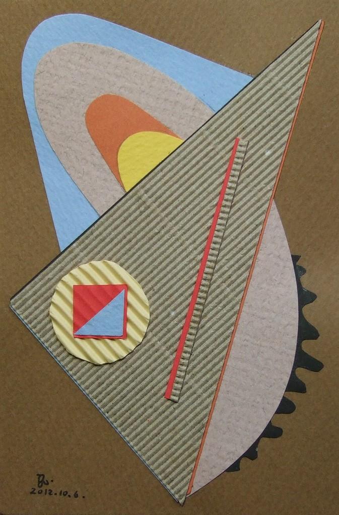 papier collé  026/1001  (150mmx100mm )   2012.10.06.  norio