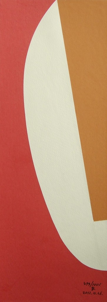 papier collé  479/1001  (402.5mmx148.5mm )   2013.10.26.  norio