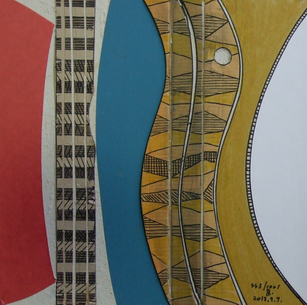 papier collé  443/1001  (250mmx250mm )   2013.09.07.  norio