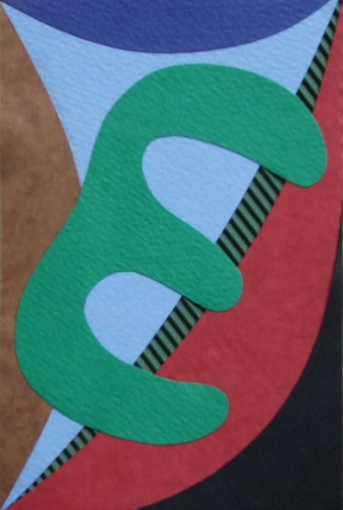 papier collé  197/1001  (150mmx100mm )   2012.12.09.  norio