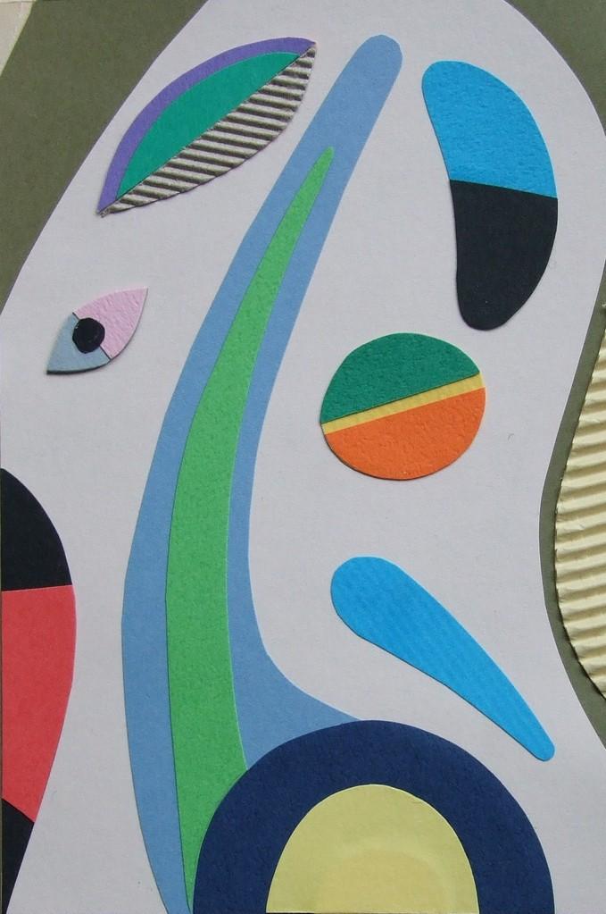 papier collé  051/1001  (150mmx100mm )   2012.10.11.  norio