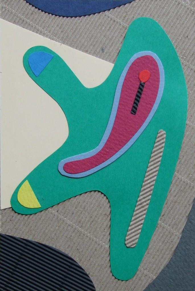 papier collé  040/1001  (150mmx100mm )   2012.10.09.  norio