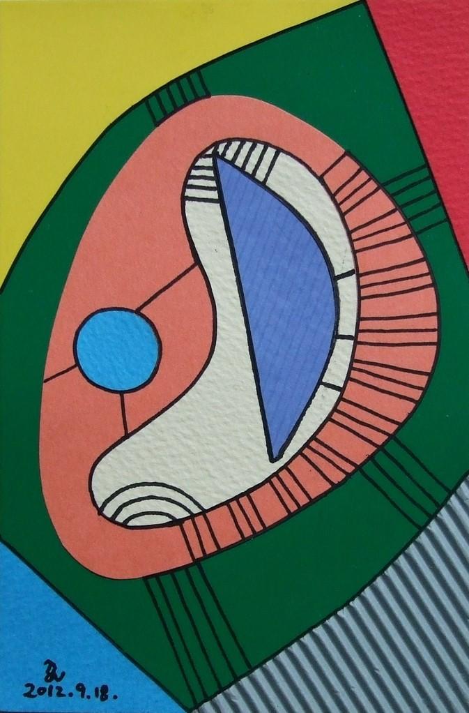 papier collé  016/1001  (150mmx100mm )   2012.09.18.  norio