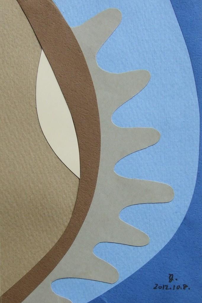 papier collé  034/1001  (150mmx100mm )   2012.10.08.  norio