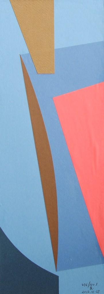 papier collé  476/1001  (402.5mmx148.5mm )   2013.10.25.  norio