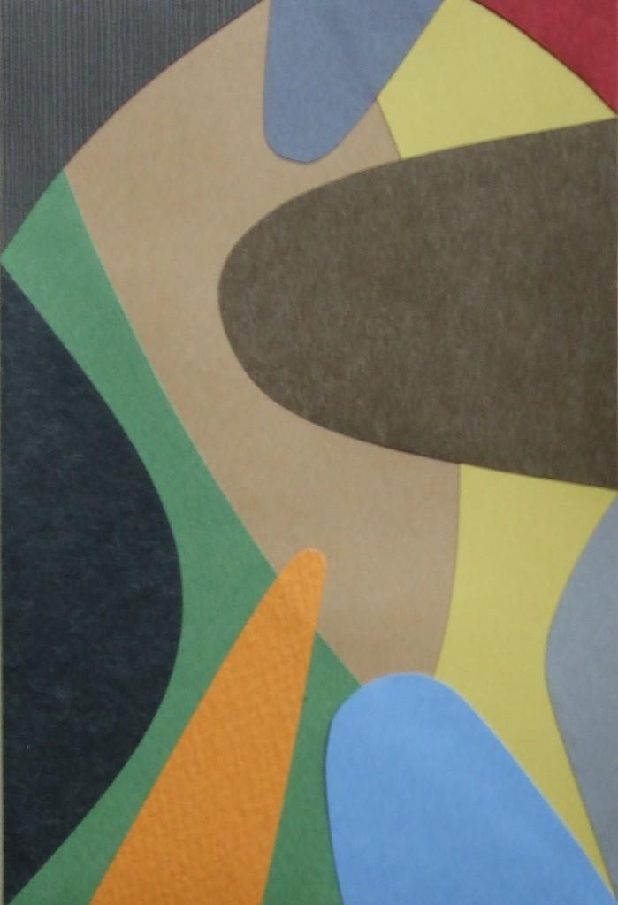 papier collé  130/1001  (150mmx100mm )   2012.10.31.  norio