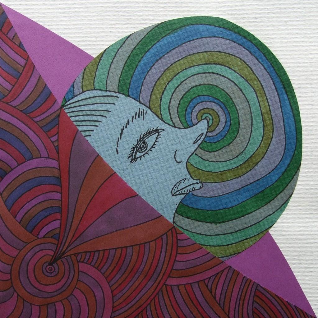 papier collé  282/1001  (210mmx210mm )   2013.02.19.  norio