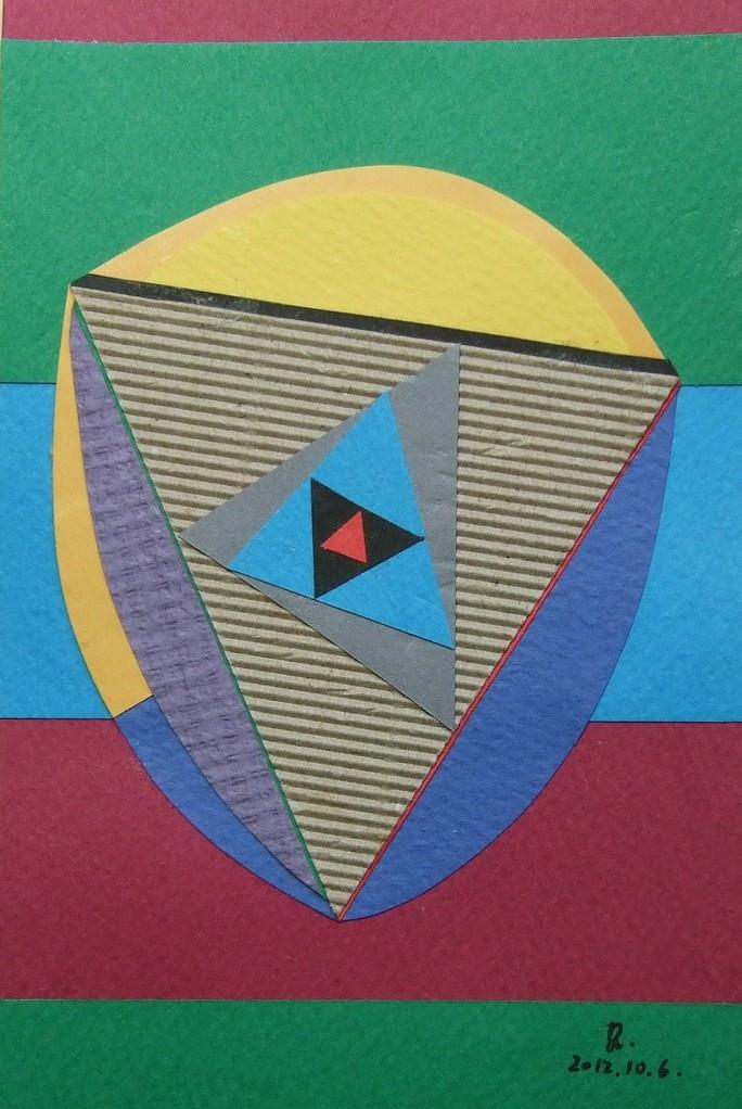 papier collé  028/1001  (150mmx100mm )   2012.10.06.  norio