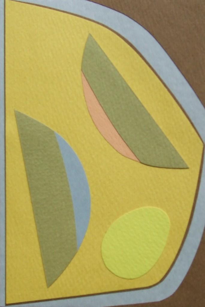 papier collé  124/1001  (150mmx100mm )   2012.10.29.  norio