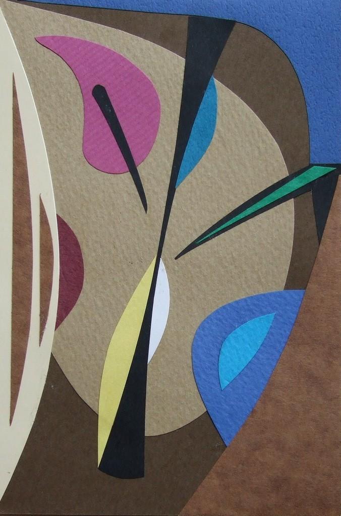 papier collé  083/1001  (150mmx100mm )   2012.10.20.  norio