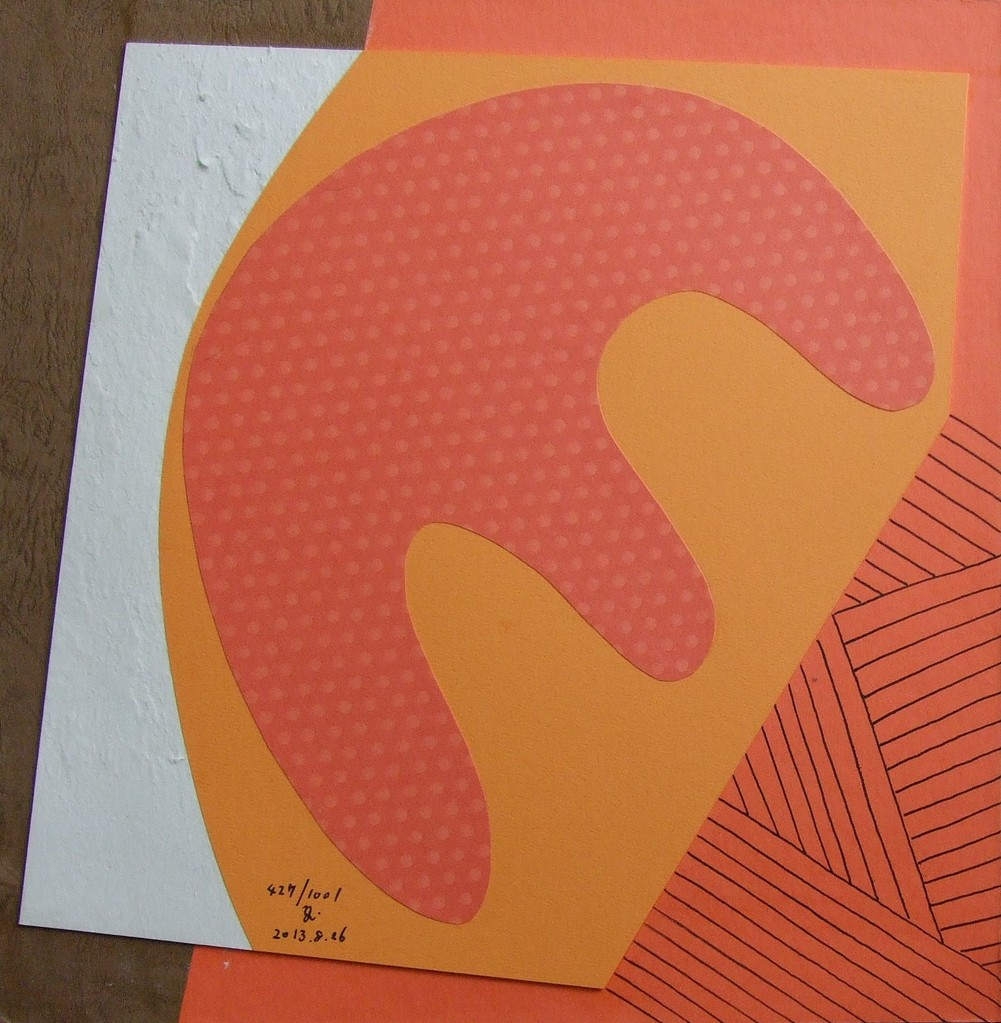 papier collé  427/1001  (297mmx297mm )   2013.08.26.  norio