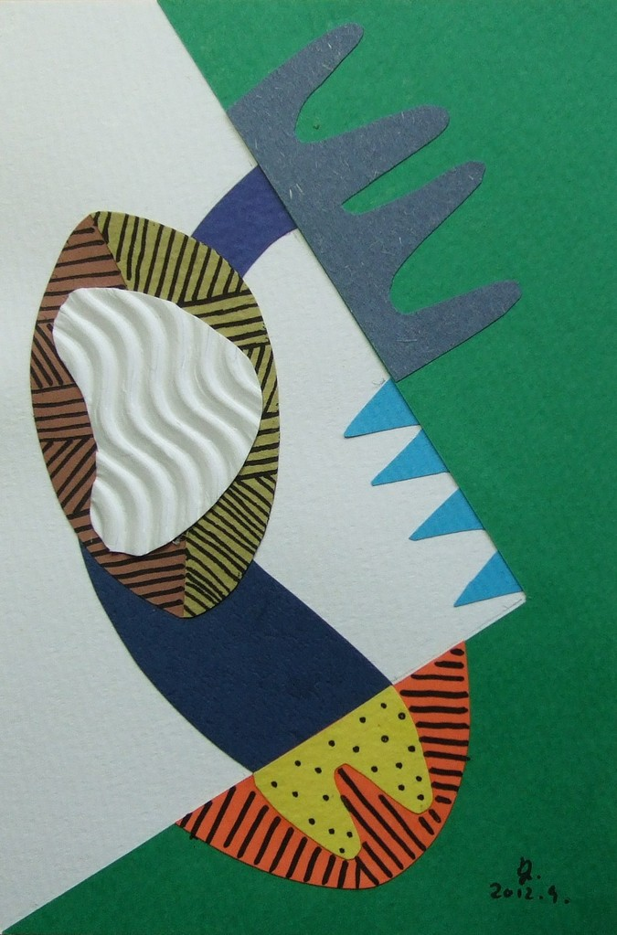 papier collé  001/1001  (150mmx100mm )   2012.09.   .  norio