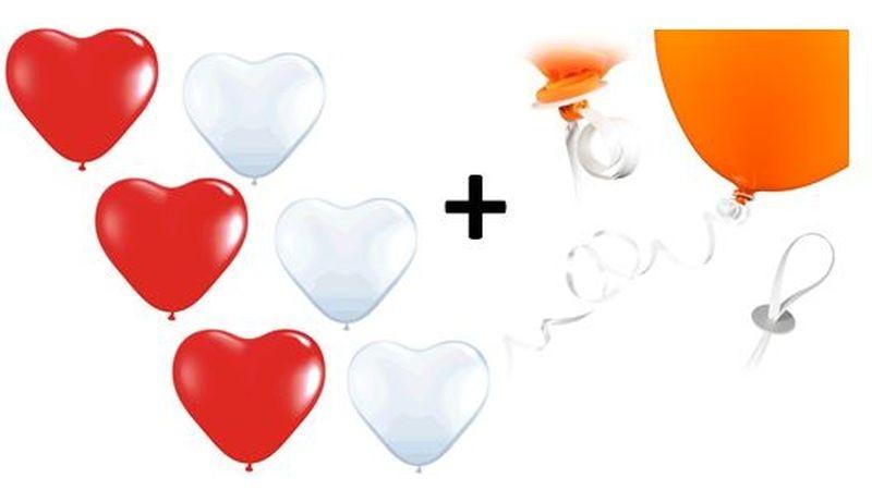 creme Hochzeit SET 50 große Herzballons grün 100 Schnellverschlüsse//Fäden