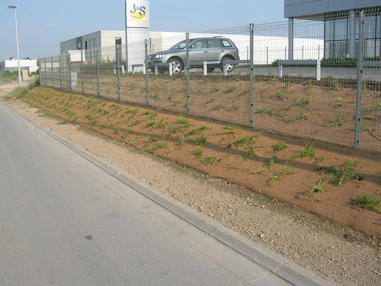 Protection de plantation paysagère en talus avec le paillage MULCHMAT