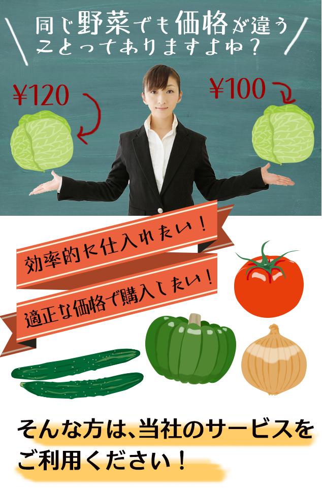 同じ業務用野菜でも価格が違う ことってありますよね?