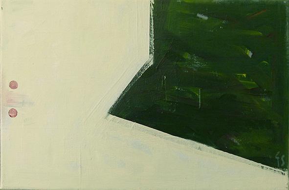 Ein Ton klingt nach,30x40,Acryl a. Leinwand,2015