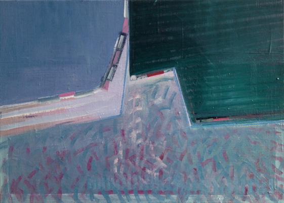 Hafenkante, 50x70, Öl a. Leinwand, 2016