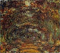 「バラの並木道 ジヴェルニー」1920-22  マルモッタン美術館蔵
