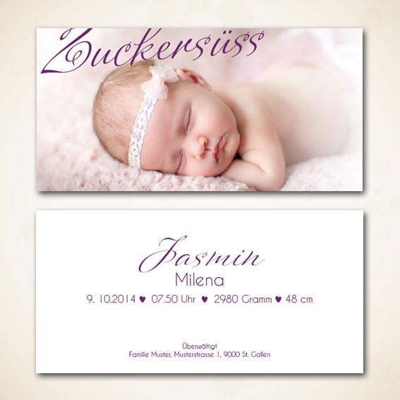 Geburtsanzeige für Wonneproppen