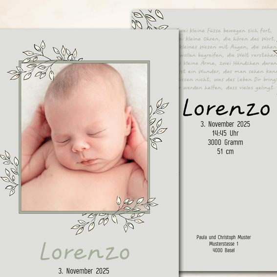 Babykarte Herbst