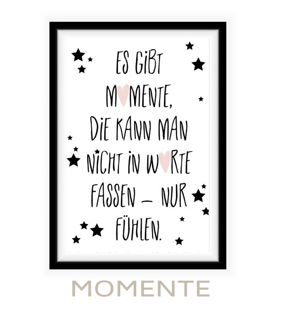 Poster mit Spruch für Babyzimmer