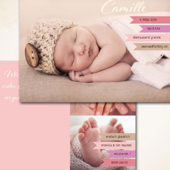 modernes Design Babykarte