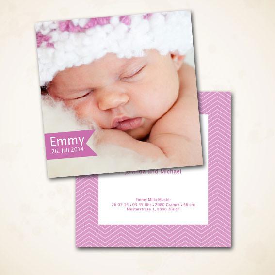 Karte für Ihr Baby zur Geburt