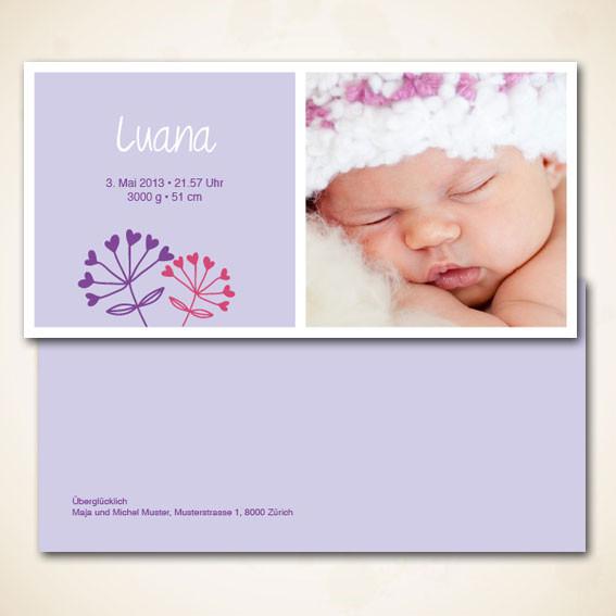 Geburtskarte modernes Design