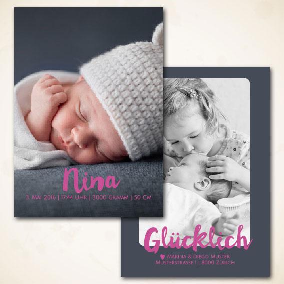 Geburtschärtli für Meitli