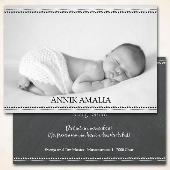 Geburtskarte für Mädchen