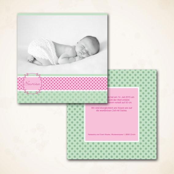 Stilvolle Geburtsanzeige