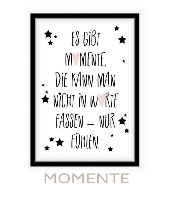 Poster mit Spruch Baby