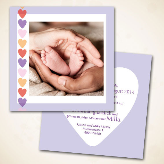 Herzige Geburtskarte