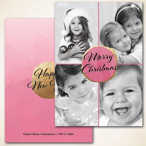 Neujahrskarte mit Foto